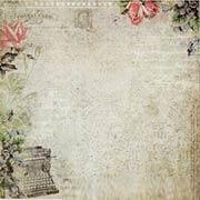 Sanctuary Scrapbook Paper - Correspondence