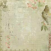 Sanctuary Scrapbook Paper - Birdsong Melody