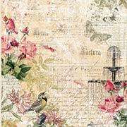 Sanctuary Scrapbook Paper - Garden Plaza