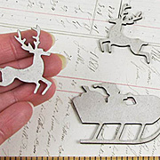Santa and Reindeer Chipboard Die-Cuts