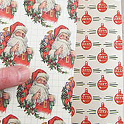 Jolly Saint Nick Scrapbook Paper