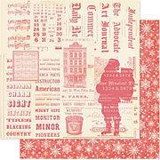 City Sidewalks Santas Workshop Scrapbook Paper
