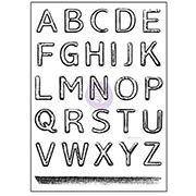 Salvage District Alphabet Clear Stamp Set