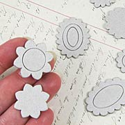 Mini Chipboard Scalloped Frames & Medallions