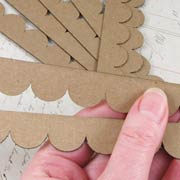 Chipboard Shingles - Scalloped