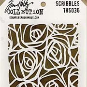 Tim Holtz Stencil - Scribbles