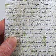 Nostalgic Script Scrapbook Paper