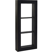 Tall Wooden Window Shadow Box - Black