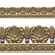 Embossed Brass Trim - Classical Shell