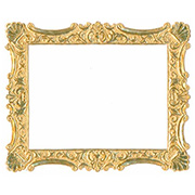 Antique Gold Dresden Frame w Shell Corners