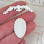 Ivory Shell and Border Decor
