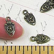 Tiny Bronze Shield Connectors*