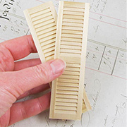 Wooden Louvered Shutters - 4-5/8 Inch