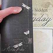 Stationers Desk Side Note Scrapbook Paper