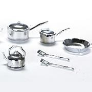 Plastic Cookware Set - Silver