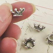 Tiny Antique Silver 3D Crowns*