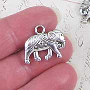 20mm Silver Elephant Charm*