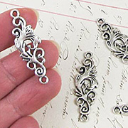 Silver Swirly Connector Charm*