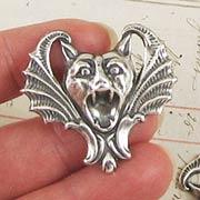Gargoyle Pendant - Silver Oxide*