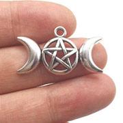 Silver Triple Moon Charm