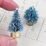 Frosted Mini Green Sisal Trees