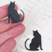Acrylic Black Sitting Cat Cut-Outs*