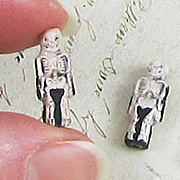 Ceramic Skeleton Bead - Small