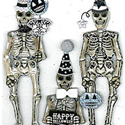 Party Skeletons Stickers*
