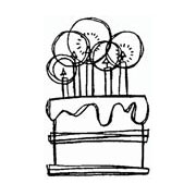 Small Cake Rubber Stamp