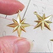 Brass Starburst Charm