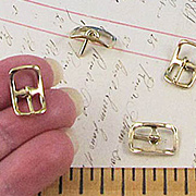 Tiny Gold Buckles