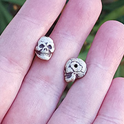 Small Ceramic Skull Bead