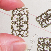 Rectangular Bronze Filigree - Small