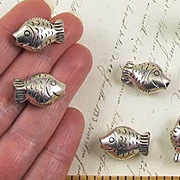 Metallic Silver Fish - Small