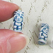 Ceramic Tiki Bead - Small