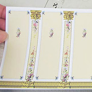Half Scale Floral Columns Dollhouse Wallpaper