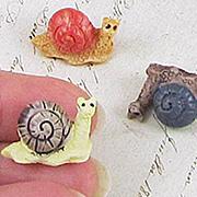 Miniature Garden Snails