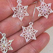 Iridescent Snowflake Ornaments