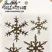 Tim Holtz Stencil - Snowflakes