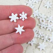 Tiny White Snowflake Buttons