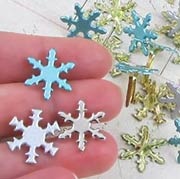 Snowflake Brads Assortment - Pearl Finish