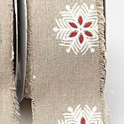 Printed Burlap Ribbon - Snowflakes