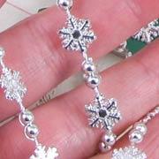 Mini Silver Snowflake Garland