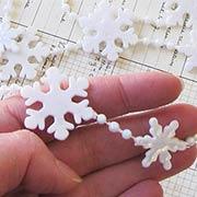 White Iridescent Snowflake Garland