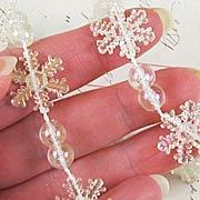Iridescent Snowflake Garland