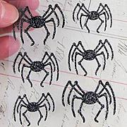 Martha Stewart Halloween Glittered Spider Stickers