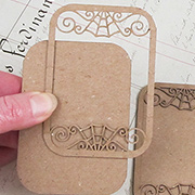 Wrought Iron ATC Card - Spider Web