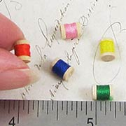 Tiny Thread Spools - Set of 5