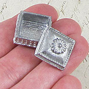 Miniature Square Metal Box with Lid