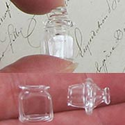 Square Glass Jar w Glass Top